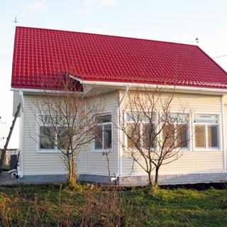 Жилой дом 81 кв.м на 21 сотке ЛПХ в Отрадном (Сланцевский) продается. Фасад дома