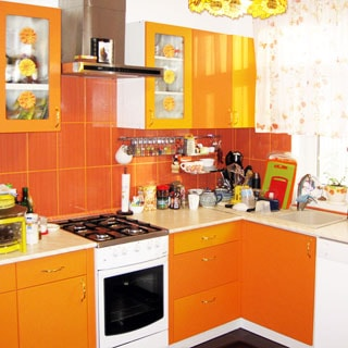 Жилой дом 81 кв.м на 21 сотке ЛПХ в Отрадном (Сланцевский) продается. Кухня