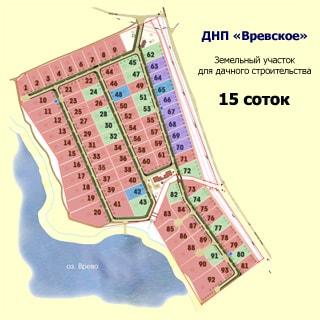 Земельный участок 15 сот ДНП у деревни Ванино Поле (Лужский, Скреблово) продается. План садоводства