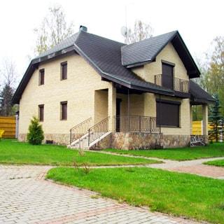 Современный коттедж 313 кв.м на 17 сотках ИЖС в Рощино (Выборгский) продается. Фасад дома