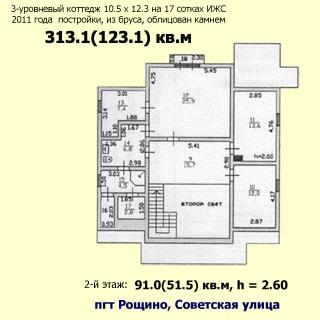 Современный коттедж 313 кв.м на 17 сотках ИЖС в Рощино (Выборгский) продается. План 2 этажа