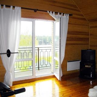 Современный коттедж 313 кв.м на 17 сотках ИЖС в Рощино (Выборгский) продается. Балкон на 2 этаже