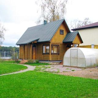 Современный коттедж 313 кв.м на 17 сотках ИЖС в Рощино (Выборгский) продается. Баня с помещением для гостей, теплица
