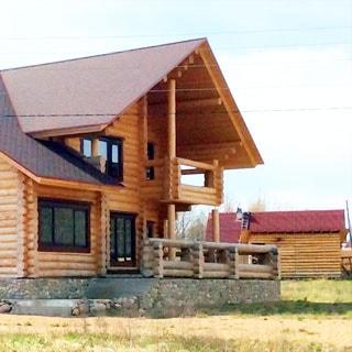 Новый жилой дом 252м на 50 сотках ИЖС в Луговом (Выборгский) продается. На участке - жилой дом, хозблок