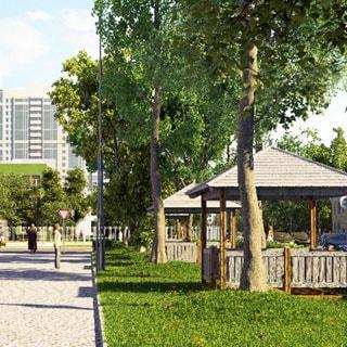 Строящаяся квартира 27(19) кв.м на проспекте Александровской Фермы (Невский, МО-51, Обуховский) продается. Площадка для пикников