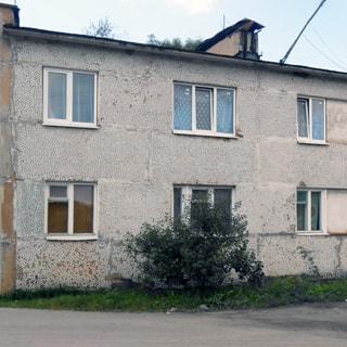 Двухкомнатная квартира 44 кв.м в деревне Почап (Лужский) продается. Фасад дома
